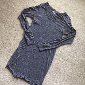 aritzia midi bodycon cotton dress